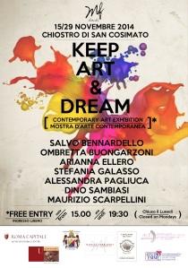 "LOCANDINA MOSTRA ""KEEP ART & DREAM"""