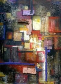 Landscape N° 107 cm. 80x60 tec. mista su tela 2012