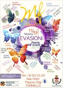 Locandina Mostra EVASIONI PREMIO MF EVENTI 2015