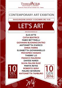 """Locandina mostra """"LET'S ART"""" Progetto grafico Sacha Nadia Tolomeo"""