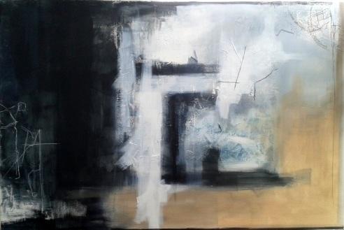 Dall'Assenza all'essenza - 150x100 cm - tecnica mista su tela - 2016