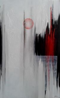 Il lato oscuro - 50x80 cm - tecnica mista su tela - 2015