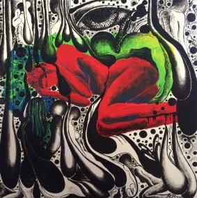 Inconscia follia - olio su tela - 60x60 cm - 2014