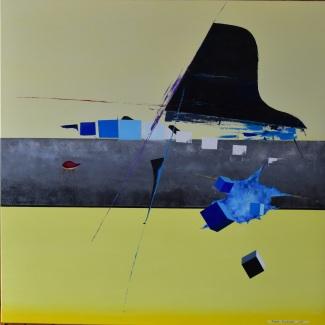 Rhapsody in blu- olio su tela - 100x100 cm - 2015