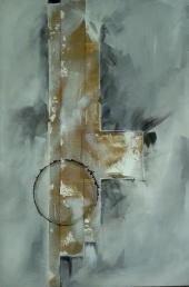 Svelare l'immanifesto - 60x90 cm - tecnica mista su tela - 2016