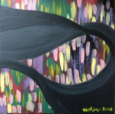 Tempesta - acrilico su tela - 50x50 cm - 2016
