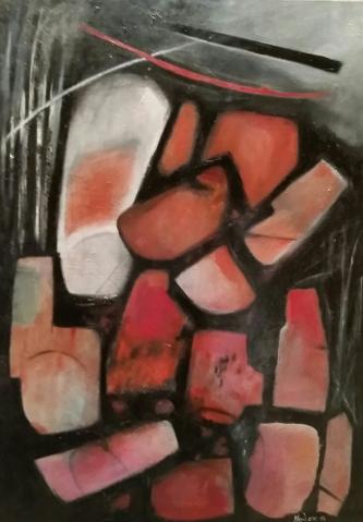 """Formalmente n 2"" olio su tela 70x100 cm 2014"