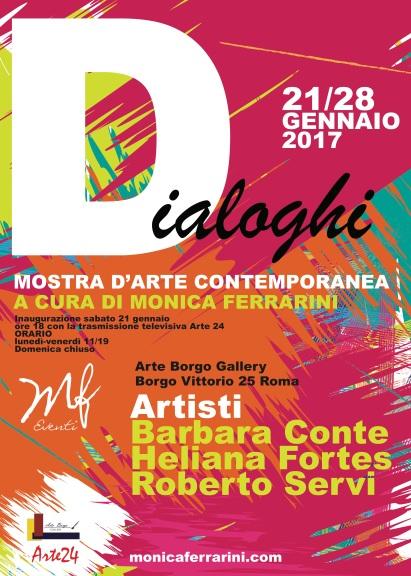 """Locandina """"DIALOGHI"""" Mostra d'arte contemporanea"""
