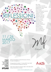 Locandina mostra: RIFLESIONI
